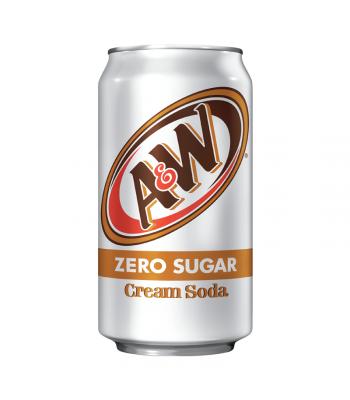 A&W Zero Sugar Cream Soda - 12fl.oz (355ml) Soda and Drinks A&W