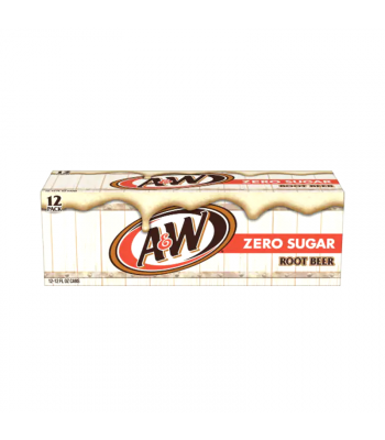 A&W Zero Sugar Root Beer 12-Can Fridge Pack Soda and Drinks A&W
