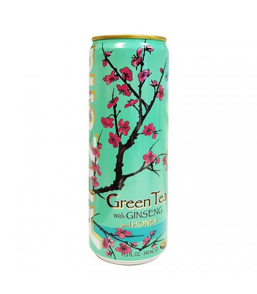 Arizona - Green Tea w/ Ginseng & Honey - SLIM CAN 11.5oz (340ml)  Soda and Drinks Arizona