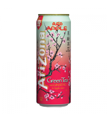 AriZona Red Apple Green Tea /w Ginseng & Apple Juice - 23fl.oz (680ml) Iced Tea Arizona