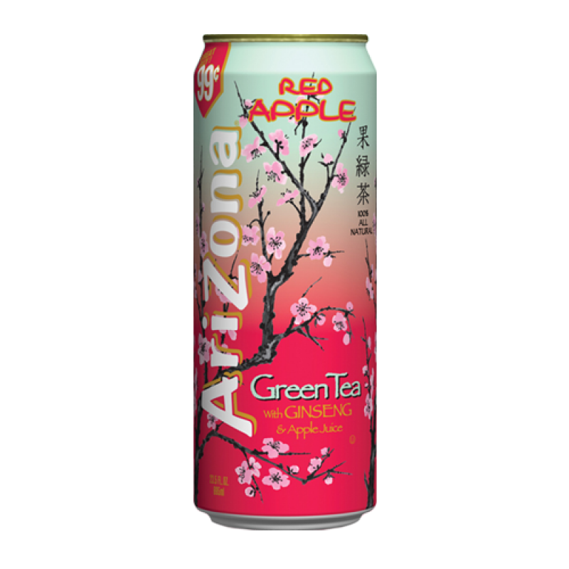 AriZona Red Apple Green Tea /w Ginseng & Apple Juice
