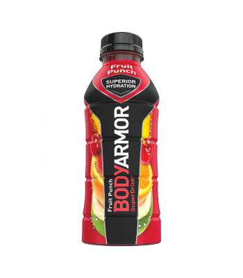 BODYARMOR Sports Drink Fruit Punch - 16oz (473ml) Soda and Drinks
