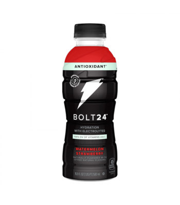 BOLT24 Sports Drink Watermelon Strawberry - 16.9oz (500ml) Soda and Drinks