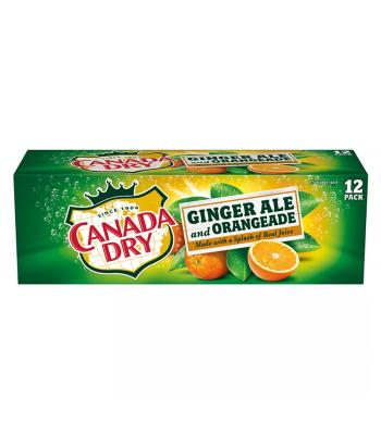 Canada Dry Ginger Ale and Orangeade - 12-Pack (12 x 12fl.oz (355ml))