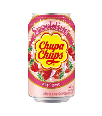 Chupa Chups Strawberry Soda - 345ml Soda and Drinks
