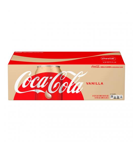 Coca Cola Vanilla 12fl.oz (355ml) Can 12-Pack Regular Soda Coca-Cola