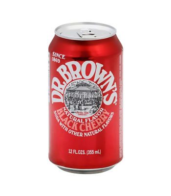 Dr. Brown's Natural Flavour Black Cherry Soda - 12fl.oz (355ml) Soda and Drinks