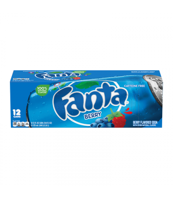 Fanta Berry 12 pack cans 355ml Regular Soda Fanta