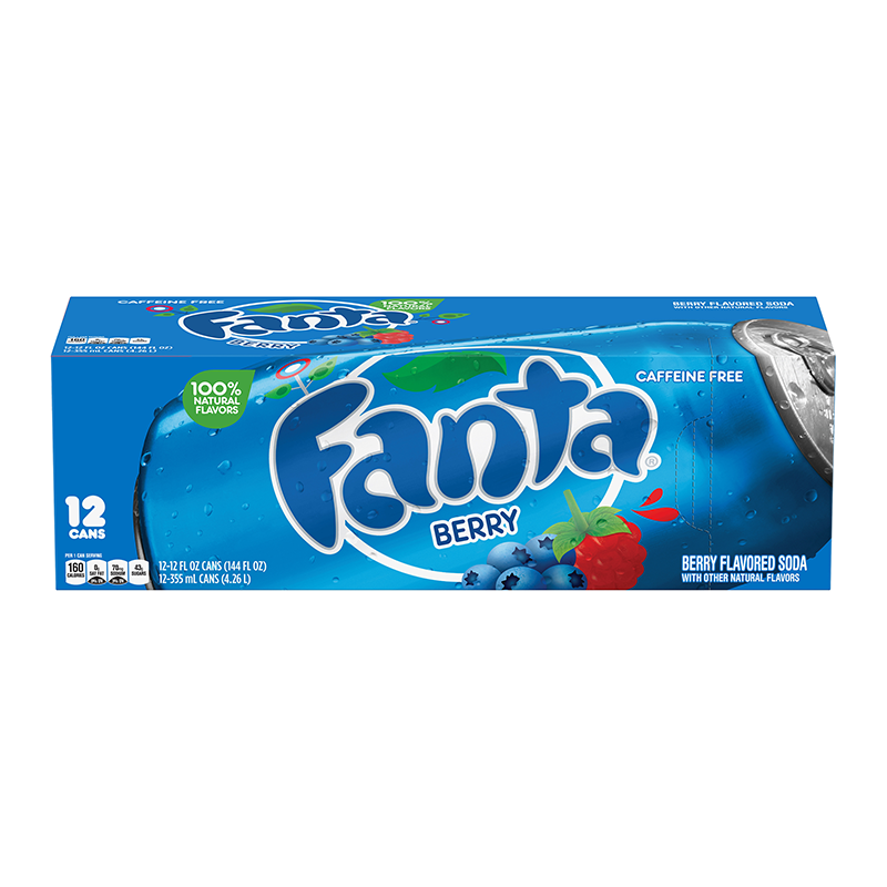 Fanta Berry 12 Pack Cans 355ml American Fizz