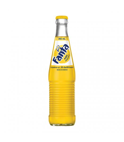 Mexican Fanta Pineapple Soda 355ml  Fanta