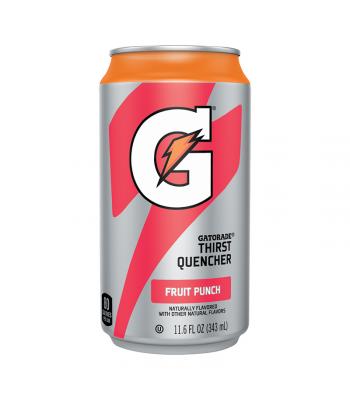 Gatorade Fruit Punch Can - 11.6oz (343ml) Soda and Drinks Gatorade