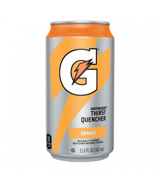 Gatorade Orange Can - 11.6oz (343ml) Soda and Drinks Gatorade
