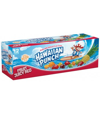 Hawaiian Punch 12 pack cans 355ml Fruit Juice & Drinks Hawaiian Punch