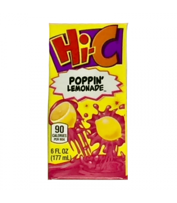 Hi-C Poppin' Lemonade 6fl.oz (177ml) CARTON  Soda and Drinks Hi-C