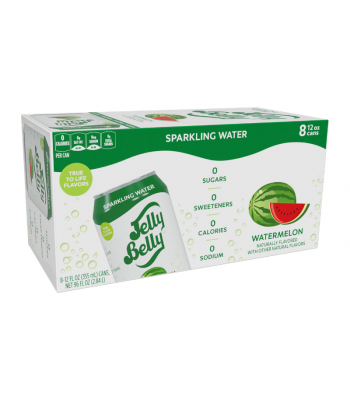 Jelly Belly Watermelon Sparkling Water - 8-Pack (8 x 12fl.oz (355ml)) Soda and Drinks Jelly Belly