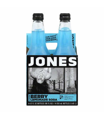 Jones Soda - Berry Lemonade - 12fl.oz (355ml) - 4 Pack Soda and Drinks Jones Soda