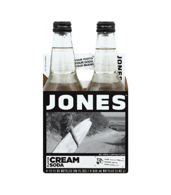 Jones Soda - Cream Soda - 12fl.oz (355ml) - 4 Pack Soda and Drinks Jones Soda