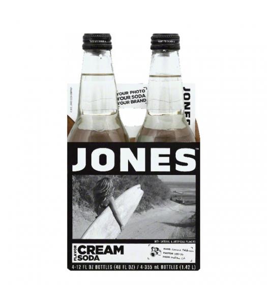 Jones Soda - Cream Soda - 12fl.oz (355ml) - 4 Pack Soda and Drinks Jones Soda