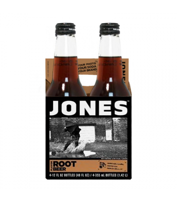 Jones Soda - Root Beer - 12fl.oz (355ml) - 4 Pack Soda and Drinks Jones Soda