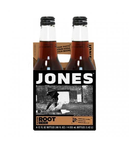 Jones Soda - Root Beer - 12fl.oz (355ml) - 4 Pack Soda and Drinks Jones Soda