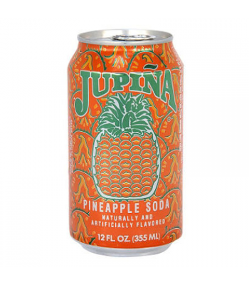 Jupina Pineapple Soda - 12 Oz (355ml) Soda and Drinks