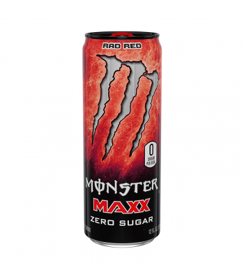 Monster Energy MAXX Rad Red Zero Sugar - 12fl.oz (355ml) Soda and Drinks Monster