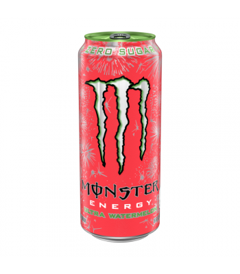 Monster Ultra Zero Watermelon - 16oz (473ml) Soda and Drinks Monster