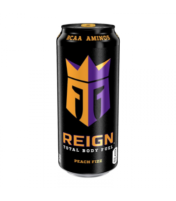 Reign Total Body Fuel Peach Fizz - 16oz (473ml) Soda and Drinks Monster