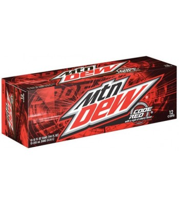 Mountain Dew Code Red 12-Pack (12 x 12fl.oz (355ml)) Soda and Drinks Mountain Dew