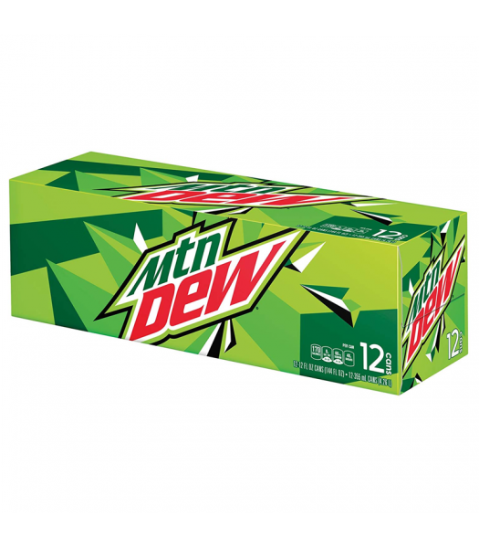 Mountain Dew Original 355ml Cans 12-Pack Soda and Drinks Mountain Dew