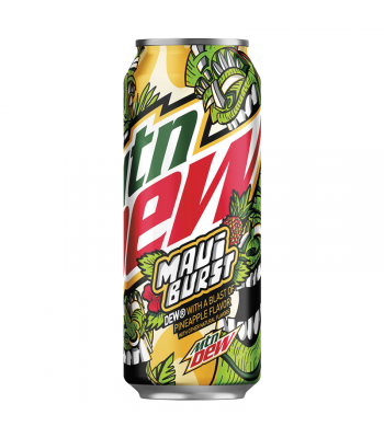 Mountain Dew Limited Edition Maui Burst (Pineapple Flavour) - 16fl.oz (473ml) Soda and Drinks Mountain Dew