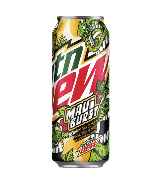 Clearance Special - Mountain Dew Limited Edition Maui Burst (Pineapple Flavour) - 16fl.oz (473ml) **Slight Damage** Clearance Zone