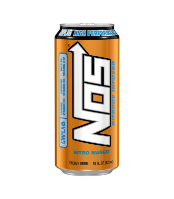 NOS Nitro Mango High Performance Energy Drinks - 16oz (473ml) Soda and Drinks