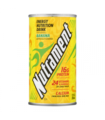 Nutrament Complete Nutrition Drink Banana - 12oz (355ml) Soda and Drinks
