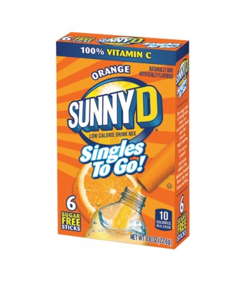 Sunny D Singles to go! Orange Drink Mix 6-Pack 0.8oz (22.6g) Soda and Drinks Sunny D