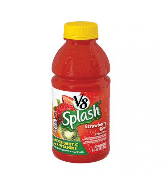 V8 Splash Strawberry Kiwi 16oz (473ml) Soda and Drinks
