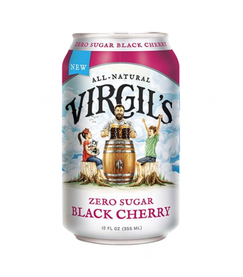 Virgil's Zero Sugar Black Cherry Soda Can - 12fl.oz (355ml) Soda and Drinks Virgil's