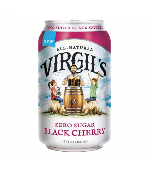 Virgil's Zero Sugar Black Cherry Soda Can - 12fl.oz (355ml) Soda and Drinks Virgil's