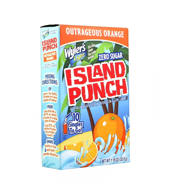 Wyler's Light Singles To Go Island Punch Outrageous Orange 10-Pack - 1.19oz (33.6g) Soda and Drinks