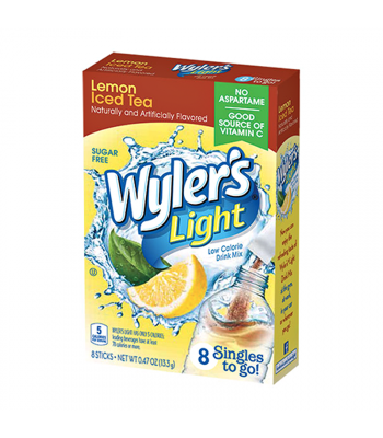 Wyler's Light Singles To Go Lemon Iced Tea 8-Pack - 0.47oz (13.3g) Soda and Drinks