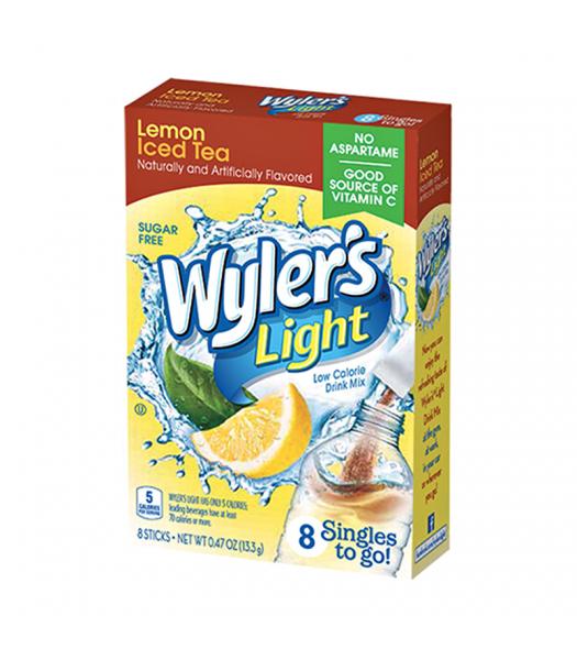 Wyler's Light Singles To Go Lemon Iced Tea 8-Pack - 0.47oz (13.3g) Soda and Drinks