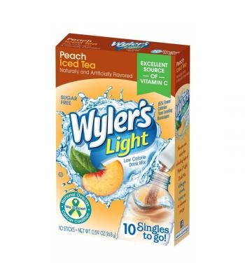 Wyler's Light Singles To Go Peach Iced Tea 8-Pack - 0.47oz (13.3g) Soda and Drinks