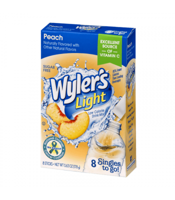Wyler's Light Singles To Go Peach 8-Pack - 0.63oz (17.8g) Soda and Drinks