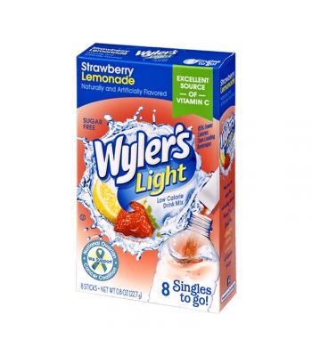 Wyler's Light Singles To Go Strawberry Lemonade 8-Pack - 0.8oz (22.7g) Soda and Drinks