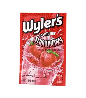 Wyler's 2QT Slammin' Strawberry Unsweetened Soft Drink Mix Sachet - 0.15oz (4.3g)