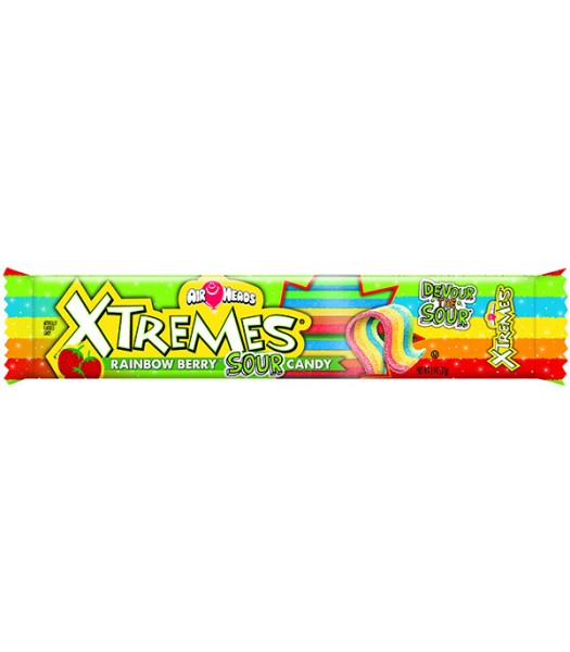 Airheads - Xtreme Rainbow Berry Sour Belts - 2oz (57g) Sweets and Candy Airheads