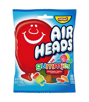 Airheads Gummies Peg Bag - 3.8oz (108g) Sweets and Candy Airheads