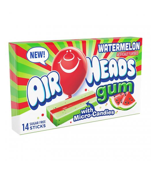 Airheads Sugar Free Gum with Micro Candies - Watermelon - 14 Stick Bubble Gum Airheads