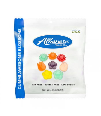 Albanese Gummi Awesome Blossoms 3.5oz (100g) Soft Candy Albanese