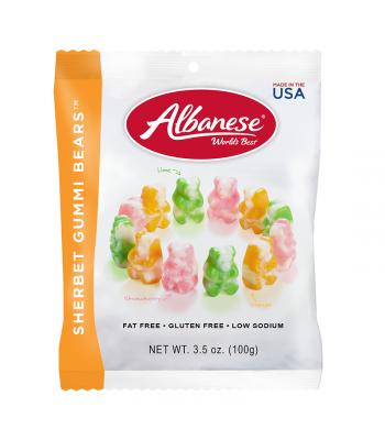 Albanese Sherbert Gummi Bears Peg Bag 3.5oz (100g)
